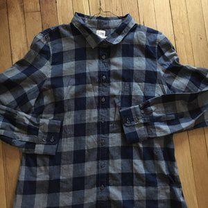 J CREW Men's mid-weight flannel shirt.